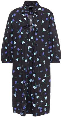 Markus Lupfer Freddie Floral-print Cotton-poplin Mini Dress