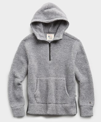 Todd Snyder + Champion Polartec Sherpa Hoodie in Alloy