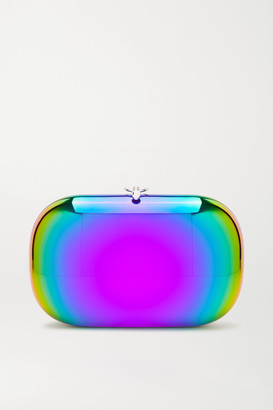 JEFFREY LEVINSON Elina Plus Rainbow Mirrored Clutch - Metallic