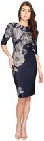 Christin Michaels Bay Floral Bodycon Midi Dress