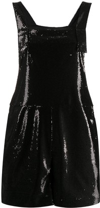 P.A.R.O.S.H. sequin embroidered square neck playsuit