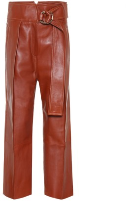 Petar Petrov Haena belted leather pants