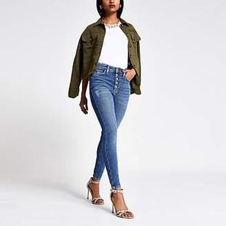 River Island Petite Blue Hailey high rise denim jeans