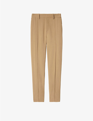 Zadig & Voltaire Panda elasticated-waist tapered crepe trousers