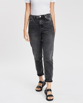 Topshop Moto Washed Mom Jeans