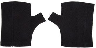 Julius SSENSE Exclusive Black Cut Gloves