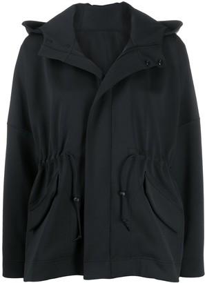 Pleats Please Issey Miyake Toggle Waist Hooded Light Jacket