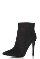 Quiz Black Faux Suede Pointed Ankle Boots