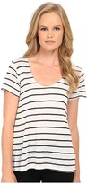 Splendid Striped Speckled Melange Tee