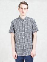 "Saturdays NYC Esquina"" Gingham S/S Shirt"