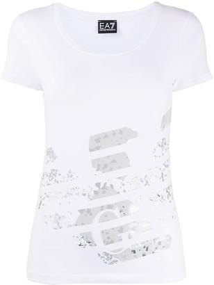 EA7 Emporio Armani Eagle logo print T-shirt