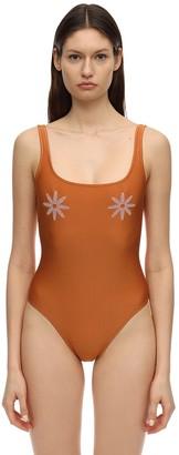 Mimì à La Mer Ginevra Flower Patch One Piece Swimsuit