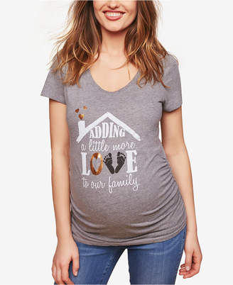 Motherhood Maternity Adding A Little More Love To Our Family Maternity Tee