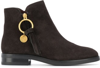 See by Chloe Ring-Pull Ankle Boots
