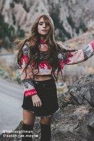 Ecote Stella Cropped Yarn Knit Sweater