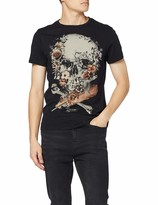 Religion Men's Roses Skull Straight Hem TEE T-Shirt