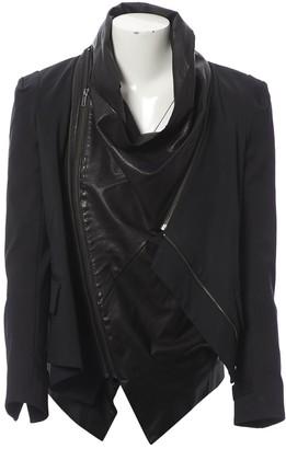 Elizabeth and James Black Leather Jackets