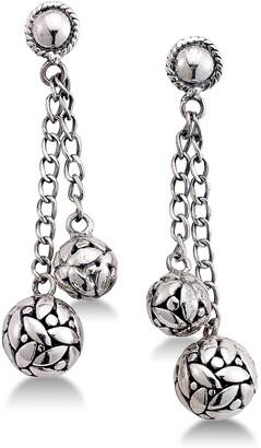Samuel B. Sterling Silver Ball Chain Dangle Earrings
