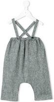 Violeta E Federico - suspender shorts - kids - Linen/Flax - 3 mth