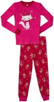 Petit Lem Foxy 2 Piece PJ Set (Toddler/Kid) - Pink-2