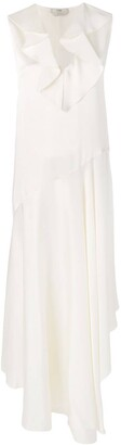 Fendi asymmetric bias cut dress