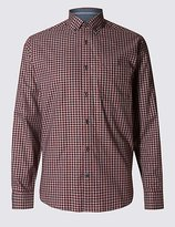 Tailored Fit Pure Cotton Grid Checked Shirt
