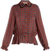Preen Line Jasmine contrast-back checked crepe shirt