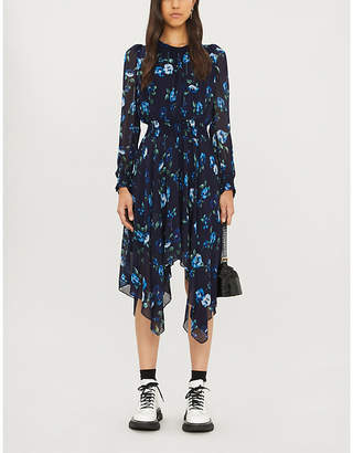 The Kooples Sport Floral print crepe midi dress