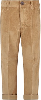Dondup Beige Boy Pants With Iconic D