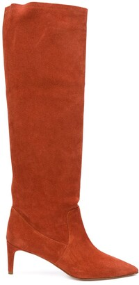 RED Valentino Pointed Toe Knee High Boots