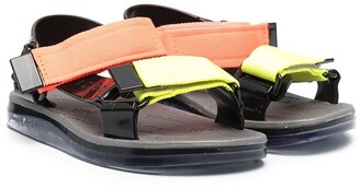 Mini Melissa Colour-Block Touch-Strap Sandals