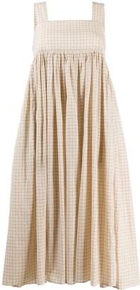 Sara Lanzi Checked Flared Midi Dress