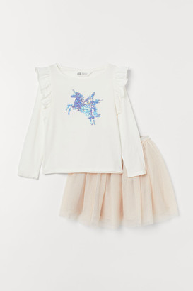 H&M Top and Tulle Skirt - White