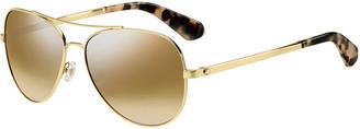Kate Spade Avaline Mirrored Aviator Sunglasses