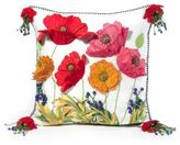 Mackenzie Childs MacKenzie-Childs Red Poppy Square Pillow