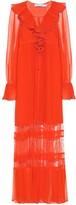 Thumbnail for your product : Self-Portrait Ruffled chiffon maxi dress