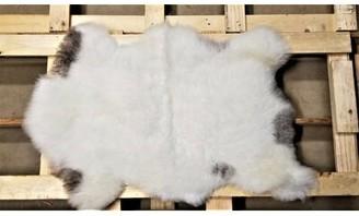 Carrico Animal Print Handmade 2' x 3' Sheepskin White/Gray Indoor / Outdoor Area Rug Millwood Pines