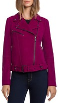 BAGATELLE.CITY Lamb Nubuck Belted Moto Jacket