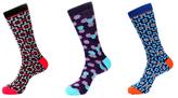 Jared Lang Hexagon and Cross Socks (3 PK)