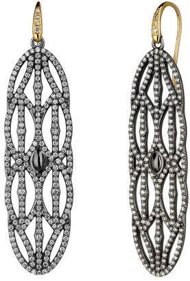 Syna Diamond Large Two-Tone Dangle Earrings
