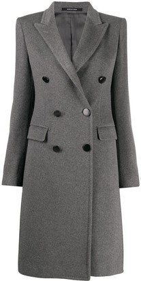 Tagliatore Long Sleeve Double-Breasted Coat
