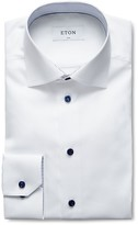 Eton of Sweden Contrast Button Twill Slim Fit Dress Shirt