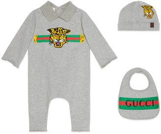 Gucci Baby gift set with leopard print