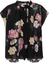 Ulla Johnson Saadi Floral-print Silk-georgette Blouse - Black