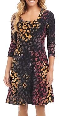 Karen Kane Tie Dyed Burnout Dress
