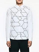 Calvin Klein Platinum Poplin Embroidered Shirt