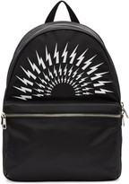 Neil Barrett Black Thunderbolt Backpack