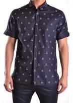Neil Barrett Men's Blue Cotton Shirt.