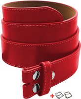 Luna Sosano's Women Thick Wide Stitch Belt Straps - Red - Small