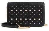 BP Embellished Faux Leather Crossbody Bag - Black